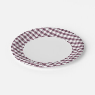 Purpe Table Cloth Pattern 7 Inch Paper Plate