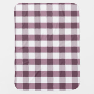 Purpe Table Cloth Pattern Baby Blanket