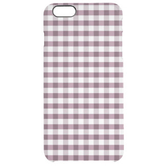 Purpe Table Cloth Pattern Clear iPhone 6 Plus Case