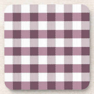 Purpe Table Cloth Pattern Drink Coasters