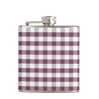 Purpe Table Cloth Pattern Hip Flask