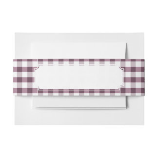 Purpe Table Cloth Pattern Invitation Belly Band