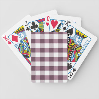 Purpe Table Cloth Pattern Poker Cards
