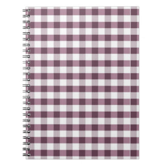 Purpe Table Cloth Pattern Spiral Notebook