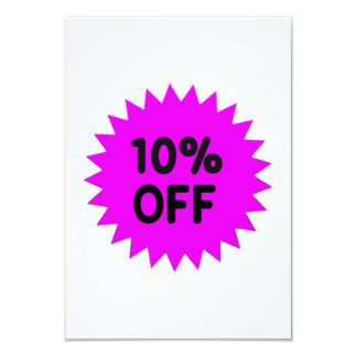 Purple 10 Percent Off 9 Cm X 13 Cm Invitation Card