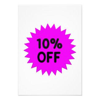 Purple 10 Percent Off Custom Announcements