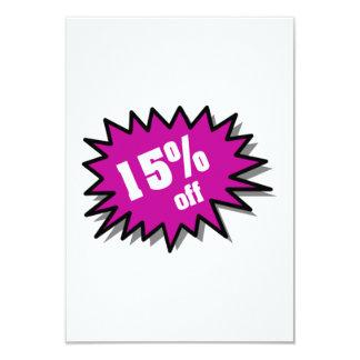 Purple 15 Percent Off 9 Cm X 13 Cm Invitation Card