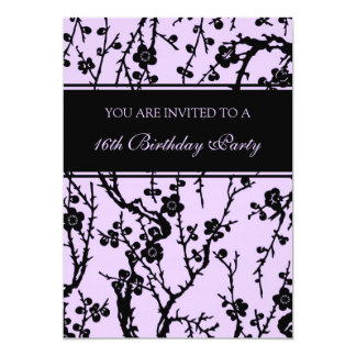Purple 16th Birthday Party Invitations