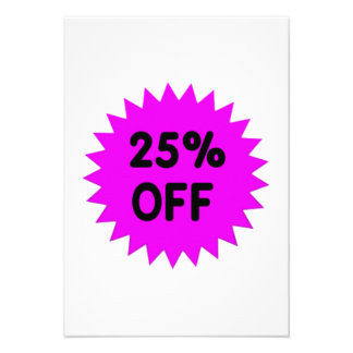 Purple 25 Percent Off Custom Invitations