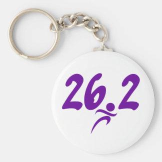 Purple 26.2 marathon key ring