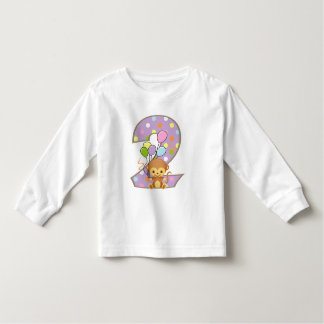Purple 2nd Birthday Monkey and Balloons T-Shirt