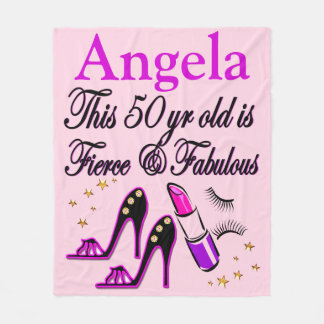 PURPLE 50TH BIRTHDAY DIVA PERSONALIZED BLANKET