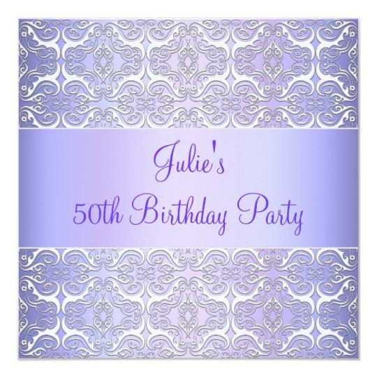 Purple 50th Birthday Party Invitation Purple 50th