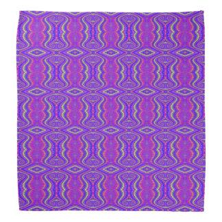 Purple 60 s Retro Fractal Art Pattern Kerchiefs