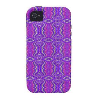 Purple 60's Retro Fractal Pattern iPhone 4/4S Case
