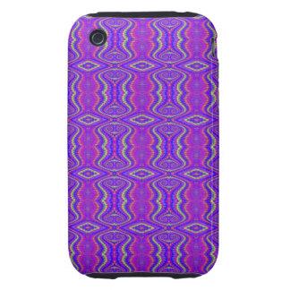 Purple 60's Retro Fractal Pattern iPhone 3 Tough Cover