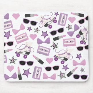 Purple 80s Pattern Mousepad