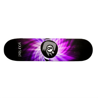 Purple 8 ball 21.3 cm mini skateboard deck