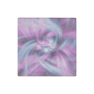 Purple Abstract Art Stone Magnet