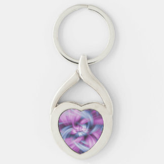 Purple Abstract Art Keychain