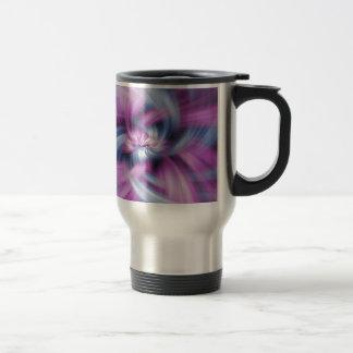 Purple Abstract Art Travel Mug