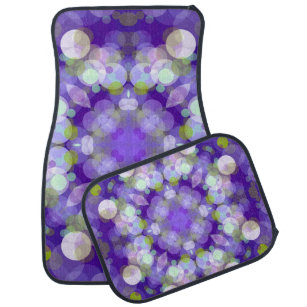 Purple Abstract Bubble Design Car Mat