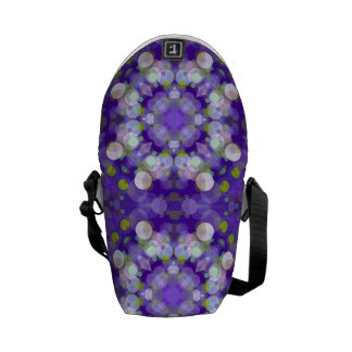 Purple Abstract Bubble Design Commuter Bag