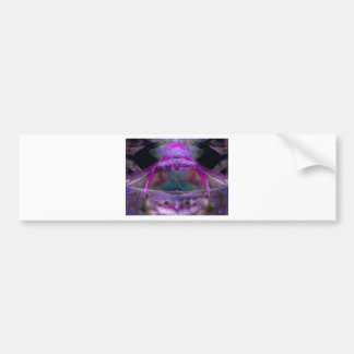 Purple Abstract Bumper Stickers