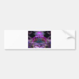Purple Abstract Bumper Sticker