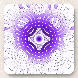 Purple Abstract Coaster