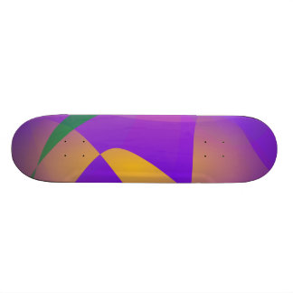 Purple Abstract Composition Skate Boards