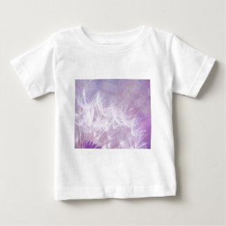 Purple Abstract Dandelion Photo Baby T-Shirt