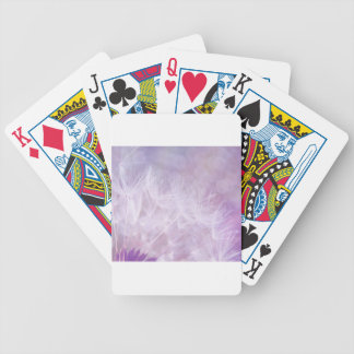 Purple Abstract Dandelion Photo Bicycle Playing Cards
