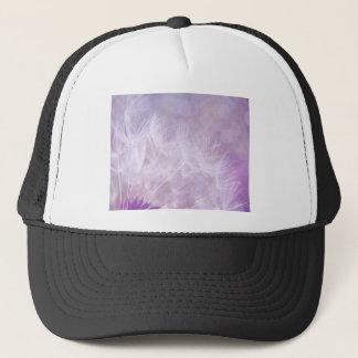Purple Abstract Dandelion Photo Cap