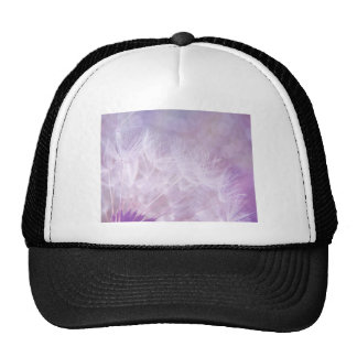 Purple Abstract Dandelion Photo Cap