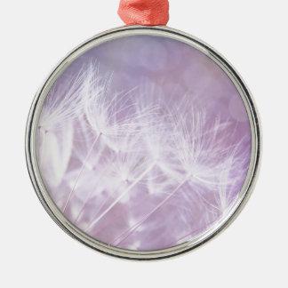 Purple Abstract Dandelion Photo Christmas Ornament