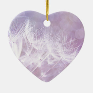 Purple Abstract Dandelion Photo Christmas Ornament