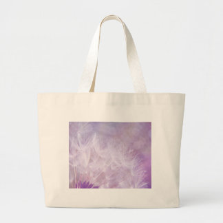 Purple Abstract Dandelion Photo Large Tote Bag