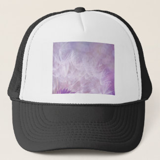 Purple Abstract Dandelion Photo Trucker Hat