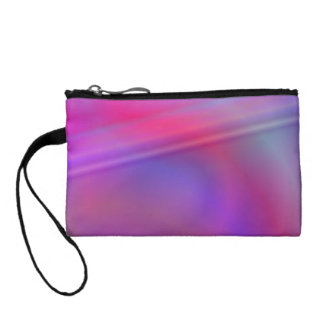 Purple abstract design coin purses