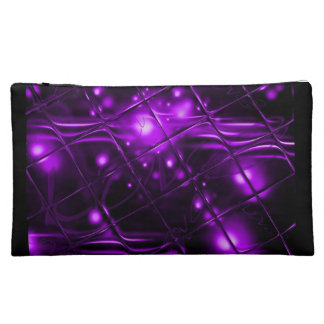 Purple Abstract Design Cosmetic Bag