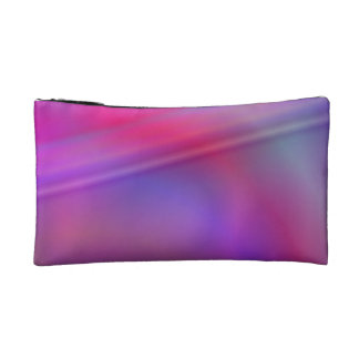 Purple abstract design makeup bag