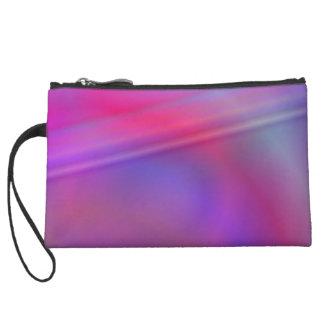 Purple abstract design wristlet purses