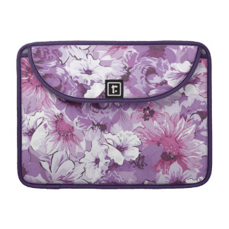 Purple Abstract Elegant Floral Design Sleeve For MacBooks