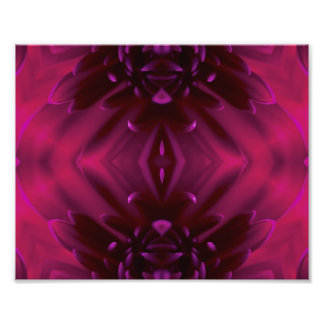 Purple Abstract Floral Photo Print