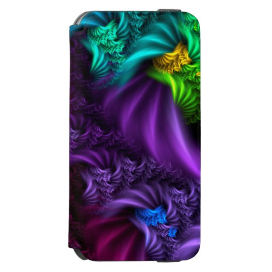 Purple abstract Fractal Art Case Incipio Watson™ iPhone 6 Wallet Case