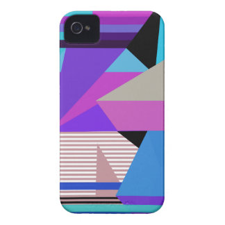 Purple Abstract Geometric Design iPhone 4/4S Case- iPhone 4 Cases