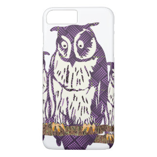 Purple Abstract Geometric Owl iPhone 7 Plus Case