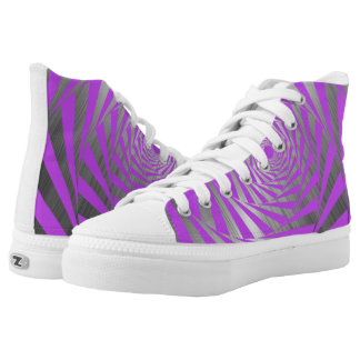 PURPLE ABSTRACT HIGH TOPS