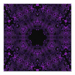 "Purple Abstract Invite Birthday Party 5.25"" Square Invitation Card"